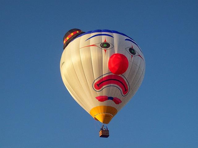 ピエロの気球